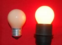 Kogellamp beige / flame E27